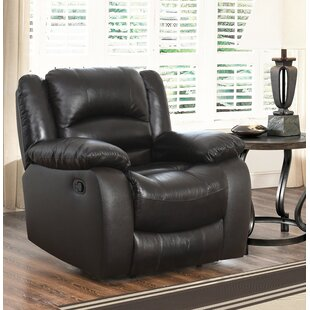 Jorgensen Leather Manual Recliner by Darby Home Co