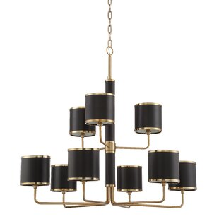 Trule Teen Moffett 9-Light Shaded Chandelier