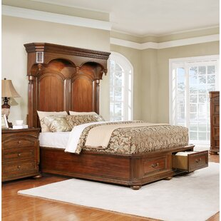 Gusman Storage Panel Bed by Fleur De Lis Living