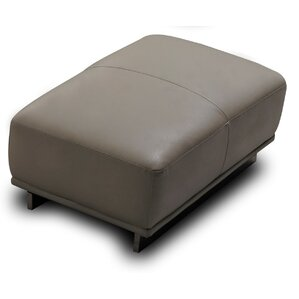 Leather Ottoman by David Divani Designs