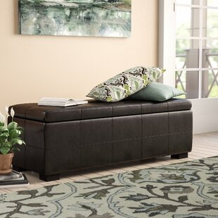 Alcott Hill Catherine Faux Leather Storage Bench