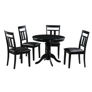 Johan 5 Piece Solid Wood Dining Set Alcott Hill