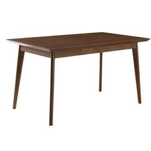 Johson Mid-Modern Solid Wood Dining Table
