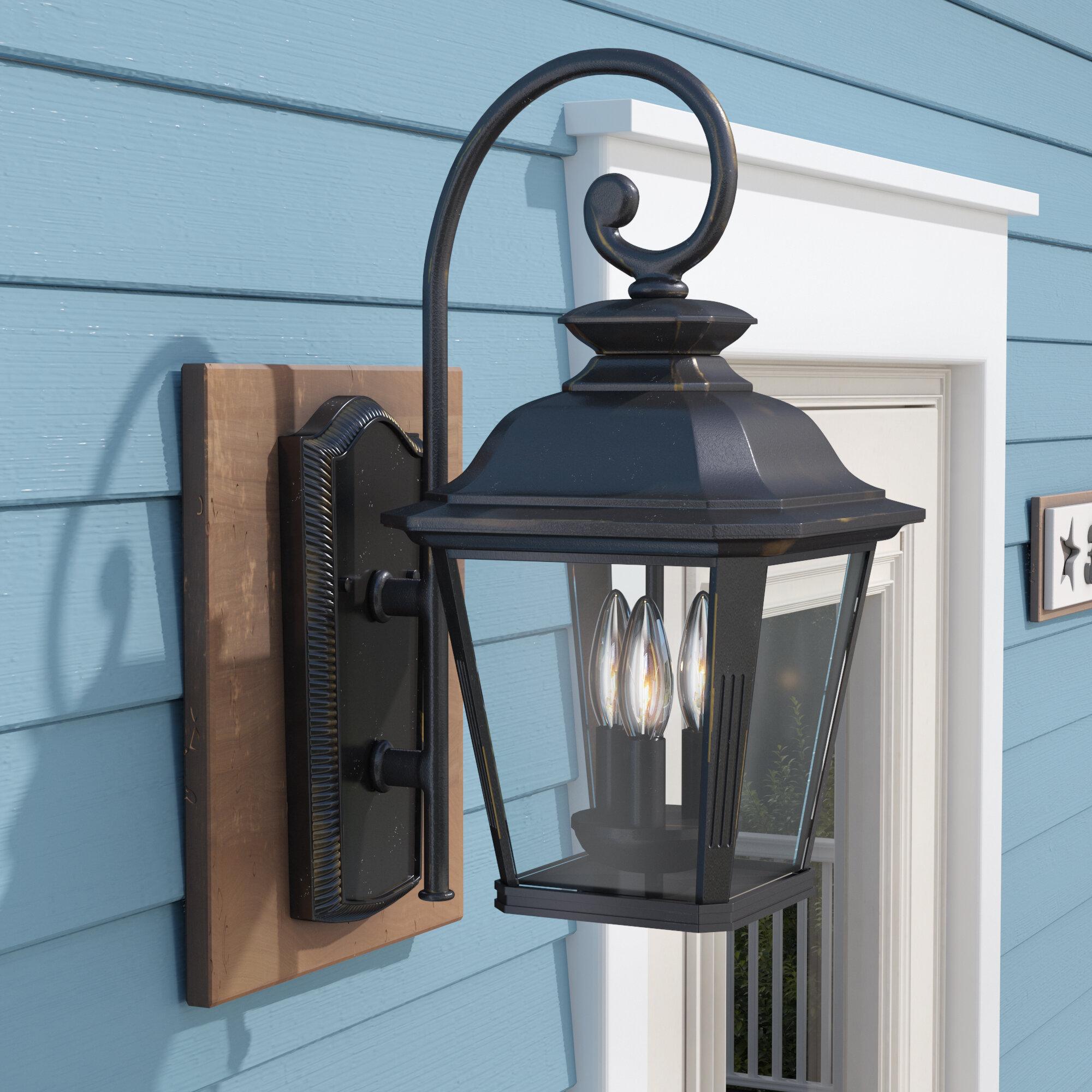 Darby Home Co Sunbury 3-Light Outdoor Wall Lantern | Wayfair