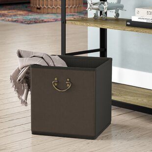 Great Price Collapsible Storage Faux Leather Cube By Rebrilliant