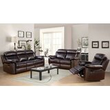 Oliver 3 Piece Leather Reclining Living Room Set by Breakwater Bay