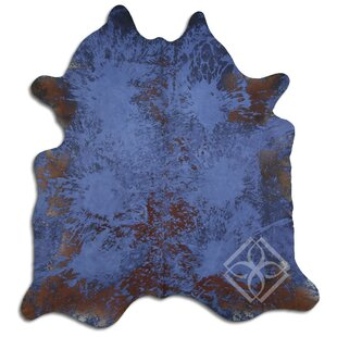 Blue Cowhide Area Rugs Free Shipping Over 35 Wayfair