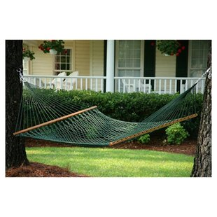 Charlton Home Ecker Rope Hammock in Green