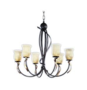 Zanin Lighting Inc. Livorno 6-Light Shaded Chandelier