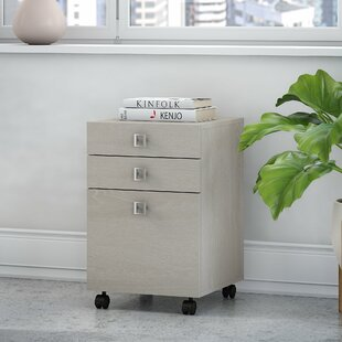 Echo 3-Drawer Mobile Vertical Filing Cabinet by Kathy Ireland Office Bush