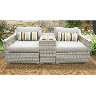 Fairmont 3 Piece Outdoor Sofa Seating Group With Cushions by TK Classics Looking for