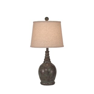 Springfield Round 24 Table Lamp with Ribbed Neck
