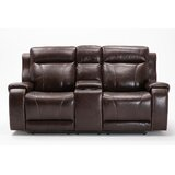 Addyston 78.7 Wide Faux Leather Pillow Top Arm Reclining Loveseat by Red Barrel Studio®