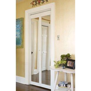 Delicieux Solid Wood Mirrored Bi Fold Doors