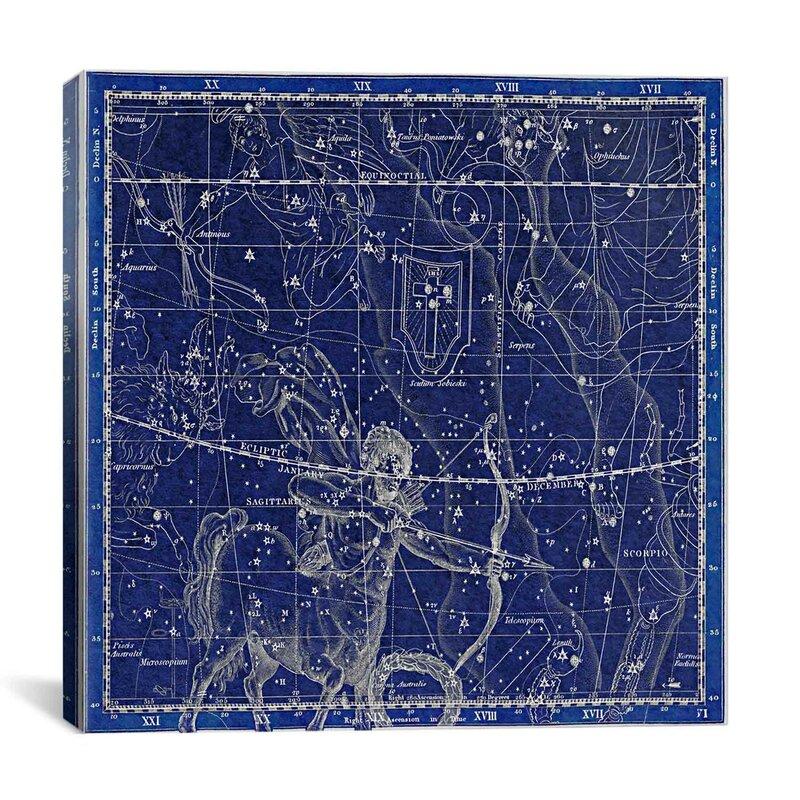 Icanvas Maps And Charts Prints Celestial Atlas Plate 20 Sagittarius Wayfair