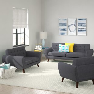 Diara 3 Piece Living Room Set by Zipcode Design