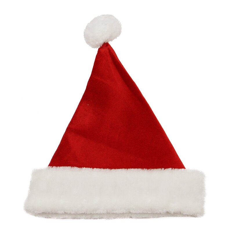 becff396941e2 Northlight Velvet Santa Hat w  Faux Fur Border