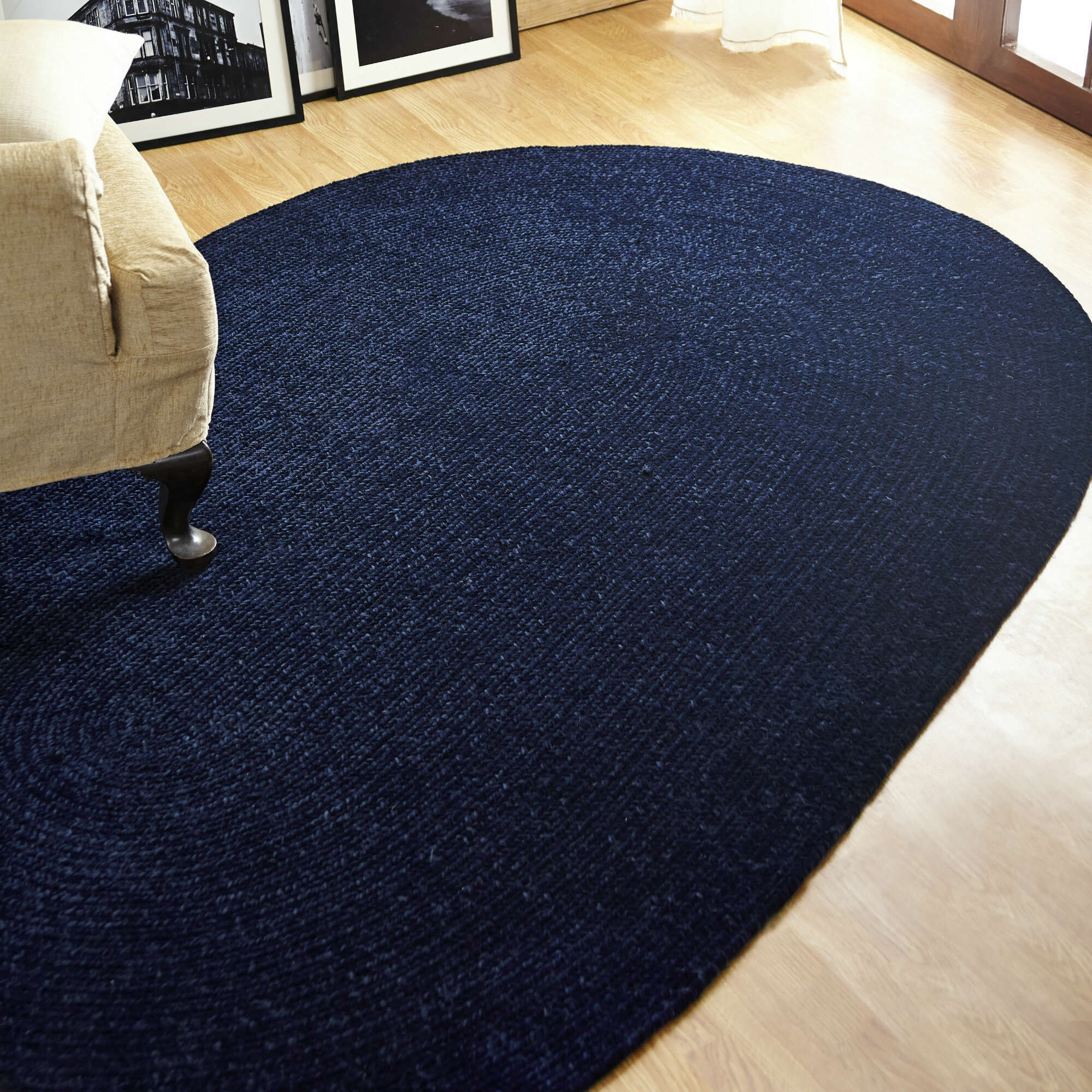Better Trends Chenille Reversible Dark Blue Indoor Outdoor Area Rug Reviews Wayfair