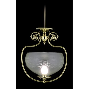 Astoria Grand Volney 1-Light Bowl Pendant