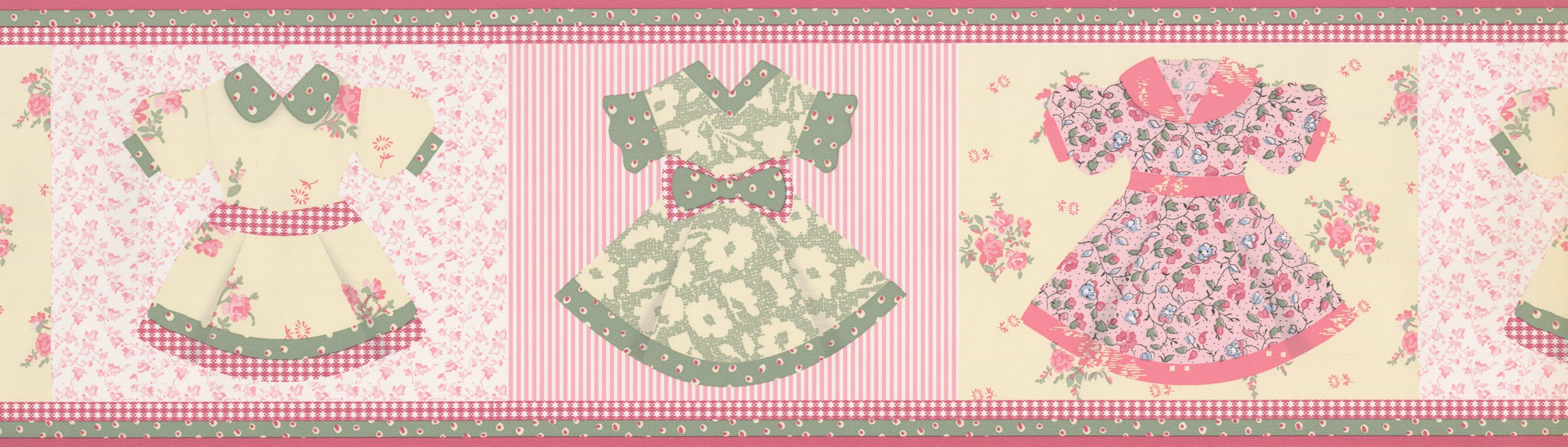 Zoomie Kids Edmondson Beautiful Baby Girl Dresses Wall Border Wayfair