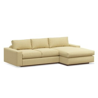 "Jackson 104"" Sofa with Chaise by TrueModern SKU:BD323469 Description"