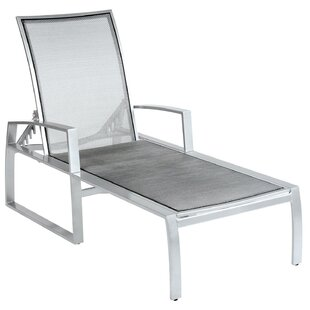 Woodard Wyatt Flex Sling Adjustable Chaise Lounge