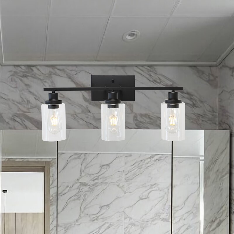 17 Stories Shirk 3 Light Dimmable Wall Vanity Lighting Reviews Wayfair