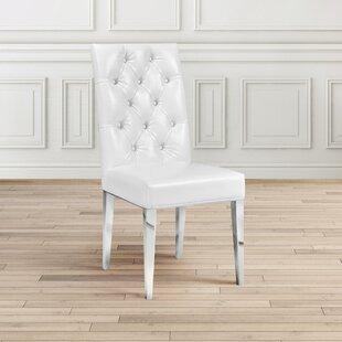 Fleurette Upholstered Dining Chair Set of 2 by Rosdorf Park