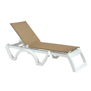 Grosfillex Commercial Resin Furniture Calypso Chaise Lounge (Set of 2)