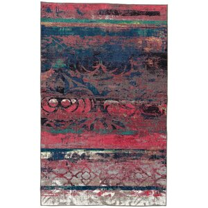 Vermont Eroded Pink/Green/Black Area Rug