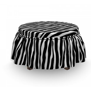 Simplistic Exotic Skin Ottoman Slipcover (Set Of 2) By East Urban Home