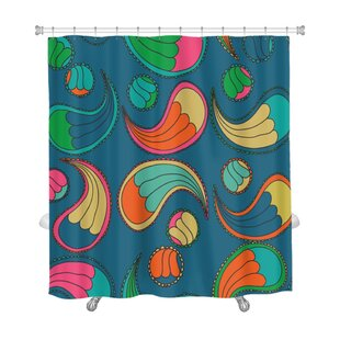 Delta Abstract Flowers Ethnic Pattern Premium Single Shower Curtain
