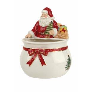 Christmas Tree Santa Candy Bowl