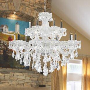 Astoria Grand Pulaski 18-Light Candle Style Chandelier