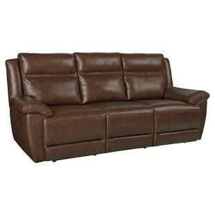 Shop Maricopa Manual Motion Leather Reclining Sofa by Loon Peak