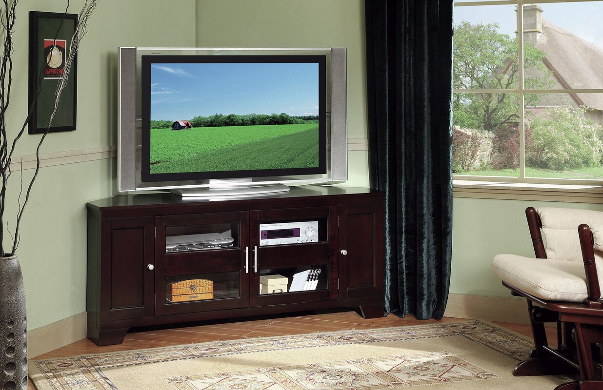 Darby home co cindy corner 60 tv stand reviews wayfair cindy corner 60 tv stand sciox Image collections