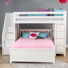 All-in-One Standard Full Bed with Staircase by Jackpot!