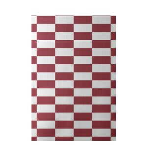 Plaid Hand-Woven Rust Indoor/Outdoor Area Rug