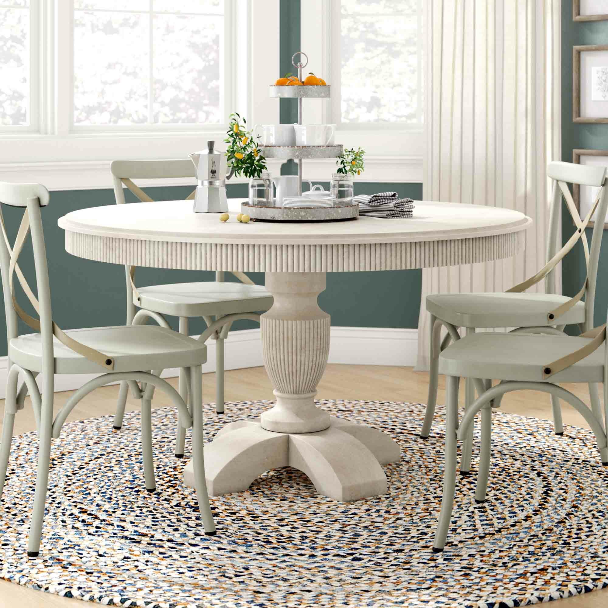 Distressed Finish White Wood Kitchen Dining Tables You Ll Love In 2021 Wayfair