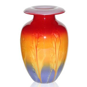 Hand Painted Glass 1950 Retro Series Vase