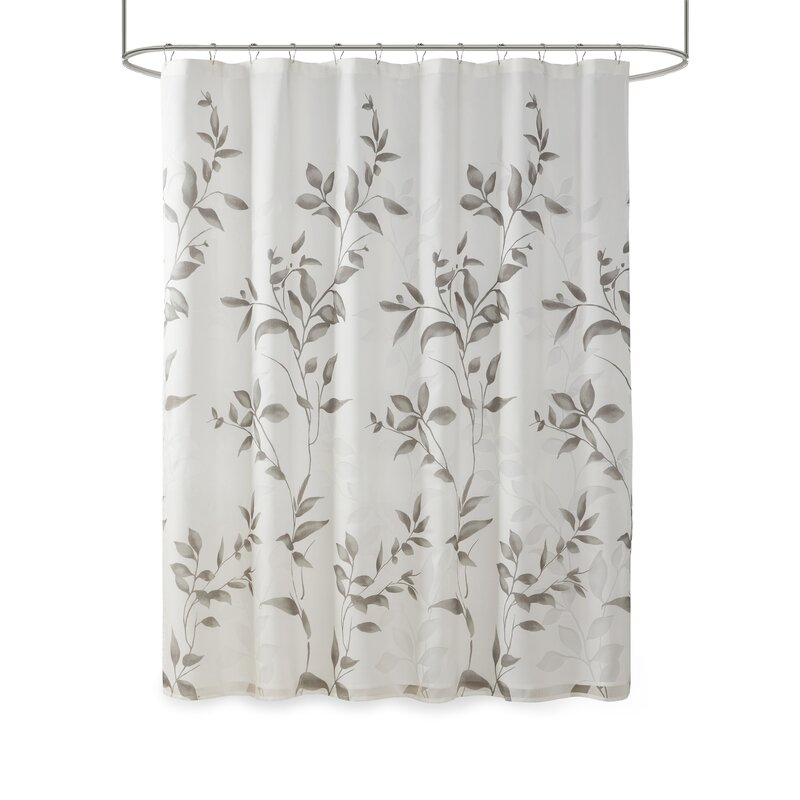 Andover Mills Trent Floral Printed Single Shower Curtain Reviews Wayfair