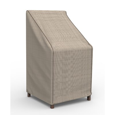 Freeport Park Aaden Stack Patio Chair Barstool Cover Color: Black/Ivory, Material: Machine-Woven Polyester