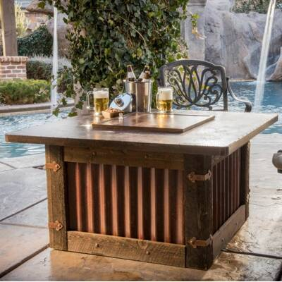 Homesteader Steel Propane Fire Pit Table