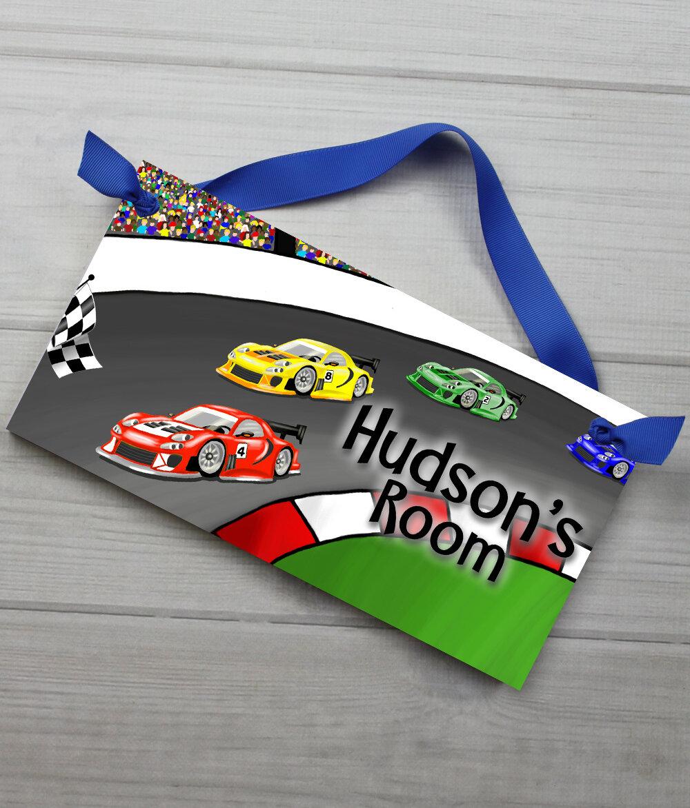 Race Car Bedroom Personalized Door Sign