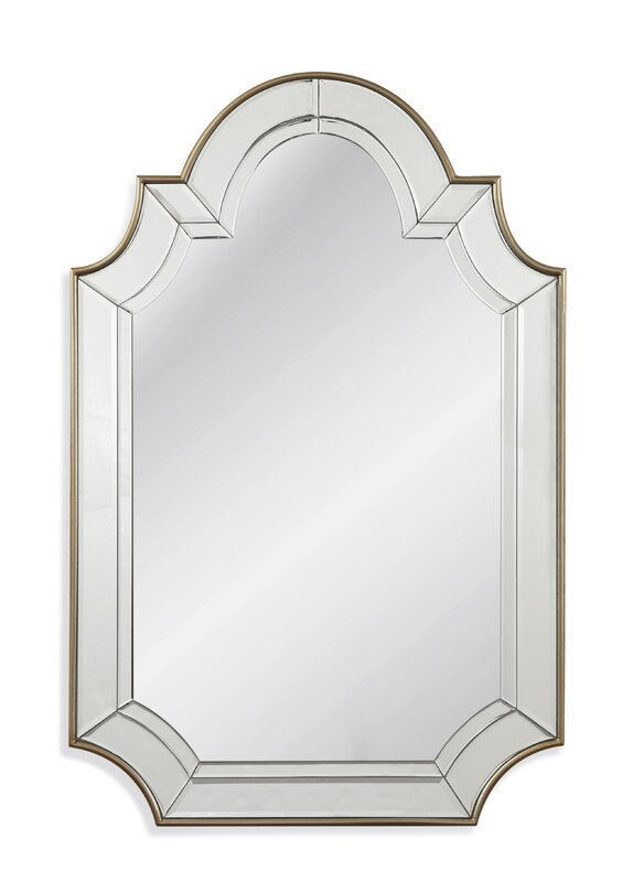 Arch/Crowned Top Champagne Wall Mirror
