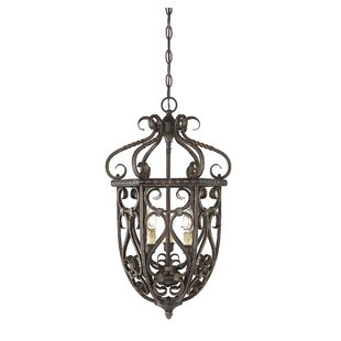 Fleur De Lis Living Isaac 3-Light Urn Pen..