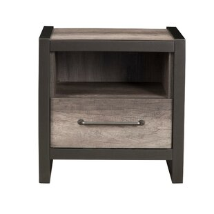 Montemayor Rubberwood 1 Drawer Nightstand by Williston Forge