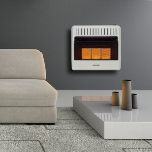 dual fuel ventless infrared btu natural gas propane wall mounted heater with automatic thermostat
