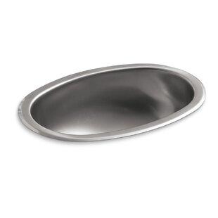 Kohler Bolero Metal Oval Dual Mount Bathroom Sink