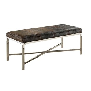 Lisdale Faux Leather Bench